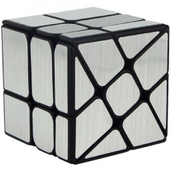 MoFang JiaoShi Windmill Mirror Cube Silver