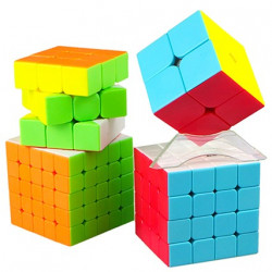 QiYi MoFangGe 4 Magic Cubes Bundle - 2x2, 3x3, 4x4, 5x5 Gift Box