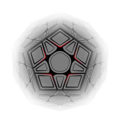 QiYi X-Man Galaxy Megaminx V2 LM Sculpted Stickerless
