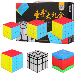 ShengShou 6 Magic Cubes Bundle - 2x2, 3x3, 4x4, 5x5, Phoenix, Mirror Cube